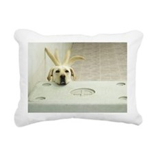 Yellow lab resting head  Rectangular Canvas Pillow