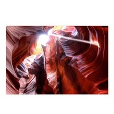 Antelope canyon lightray Postcards (Package of 8)