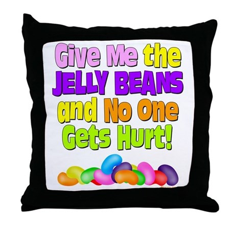 Give me the Jelly Beans Throw Pillow