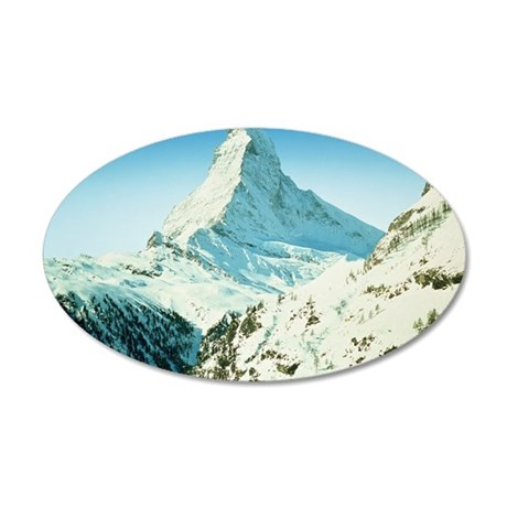 MATTERHORN, SWITZERLAND 35x21 Oval Wall Decal