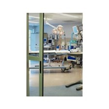Room in intensive care unit Rectangle Magnet