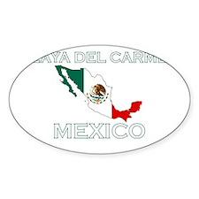 Playa Del Carmen, Mexico Oval Decal