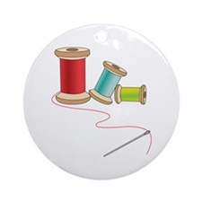 Thread and Needle Ornament (Round)