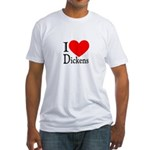 I Love Dickens Fitted T-Shirt