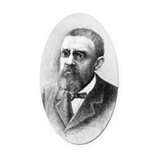 Henri Poincare, French mathematici Oval Car Magnet