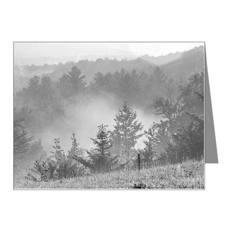 Smoke in a forest Note Cards (Pk of 10)