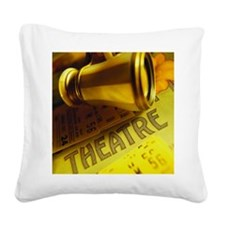 Playbill with theater tickets Square Canvas Pillow