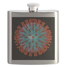 Herpes virus particle, computer artwork Flask