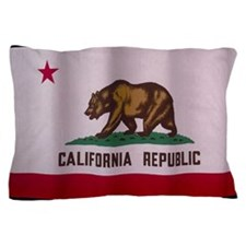 the flag of california Pillow Case
