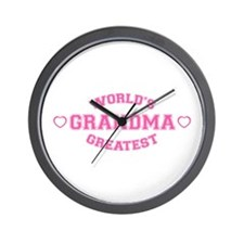 World's Greatest Grandma Wall Clock