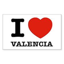 I LOVE VALENCIA Decal