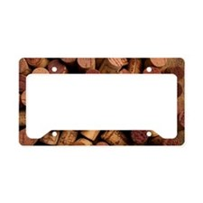 Wine corks License Plate Holder