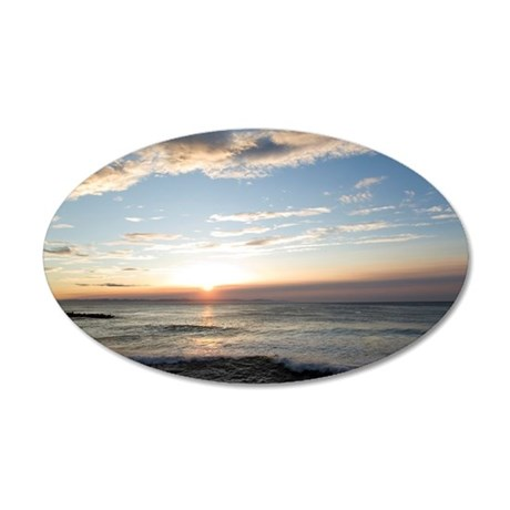 Sunset Over Sea Of Japan 35x21 Oval Wall Decal