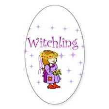 Witchling Oval Decal