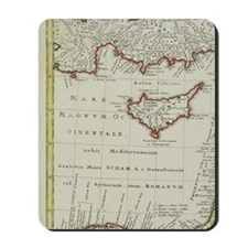 Antique map of the Middle East with Egyp Mousepad