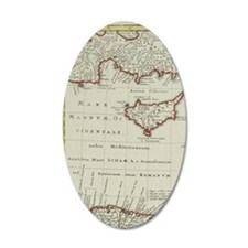 Antique map of the Middle Ea Wall Decal