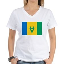 Saint Vincent Flag T Shirts Shirt