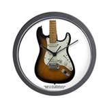 """Hot Wax"" Guitar Wall Clock"
