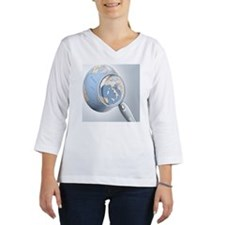 reading glass shows Italy on a  Women's Long Sleeve Shirt (3/4 Sleeve)