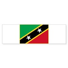 Saint Kitts Flag T Shirts Bumper Bumper Sticker