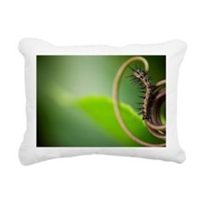 Caterpillar on leaf Rectangular Canvas Pillow