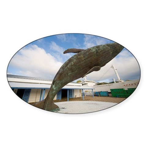 Whale Sculpture In Front Of Re Decal