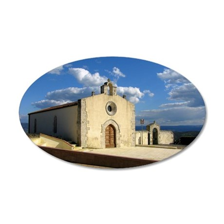 Church of St. Anthony 35x21 Oval Wall Decal