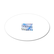 Irregular heartbeat 20x12 Oval Wall Decal