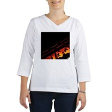 Illuminated Japanese lanterns Women's Long Sleeve Shirt (3/4 Sleeve)