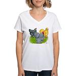 Feather-legged Bantams Women's V-Neck T-Shirt