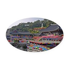 Yonggungsa Temple in Busan Oval Car Magnet