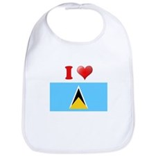I love Saint Lucia Bib
