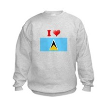 I love Saint Lucia Sweatshirt