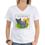 Feather-leg Trio Women's V-Neck T-Shirt