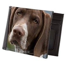 German Shorthair Pointer With Building Mens Wallet