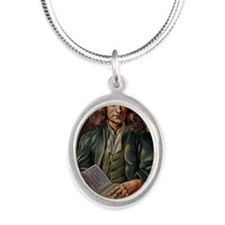 Isaac Newton Silver Oval Necklace