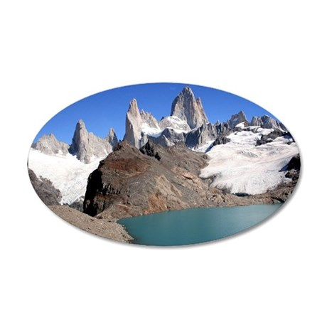 Mount Fitzroy 35x21 Oval Wall Decal