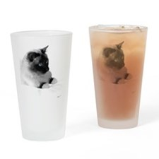 Birman Temple Cat semi profile Drinking Glass