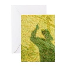 Shadow of the umpire on the play fie Greeting Card