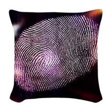 Close-Up of Finger Print Woven Throw Pillow