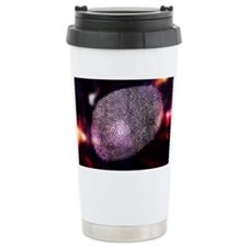 Close-Up of Finger Print Ceramic Travel Mug