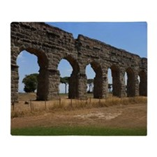 Claudius Aqueduct, Rome, Italy Throw Blanket