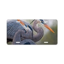 Blue Herons Aluminum License Plate