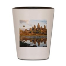 Sunset at Angkor Wat with reflection in Shot Glass