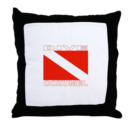 Dive Cozumel Throw Pillow