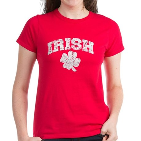 Worn Irish Shamrock Women's Dark T-Shirt