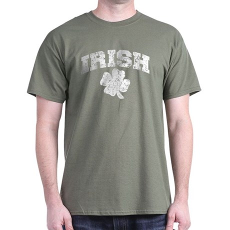 Worn Irish Shamrock Dark T-Shirt