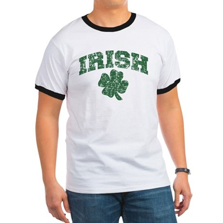 Worn Irish Shamrock Ringer T