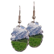 Alpine wildflowers in full bloo Earring