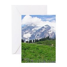 Alpine wildflowers in full bloom lea Greeting Card